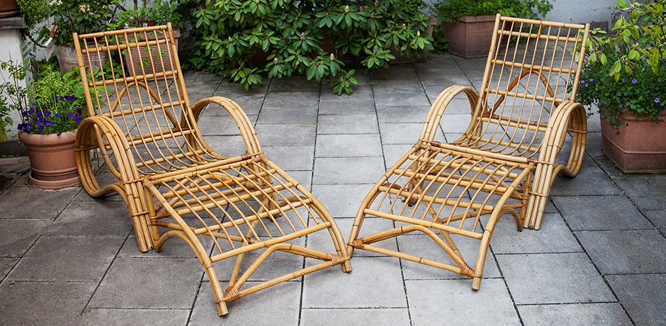 Bonacina-lounge-sessel-hocker-bambus-rattan