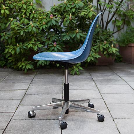 Charles-Eames-chair-stool-blue-swivel