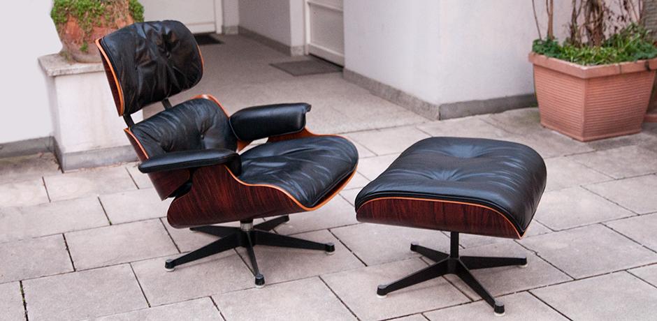 Charles-Eames-sessel-hocker-leder-schwarz