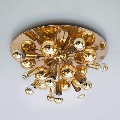 Cosack-Sputnik-lamp-flush-mount-golden