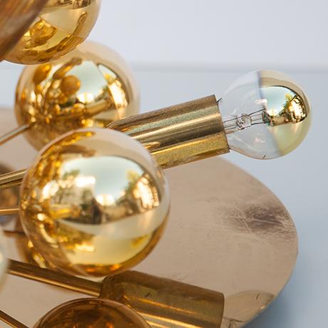 Cosack-Sputnik-lamp-flush-mount-brass-interior