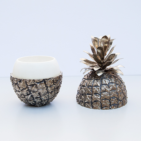 Fredo-Therm-pineapple-ice-bucket-cooler-silver