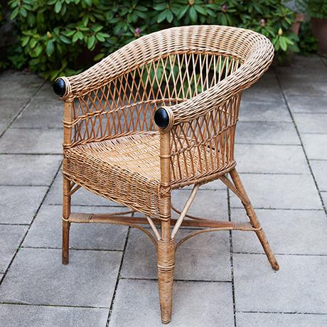 Schlichtes Designarmchair-bamboo-rattan-italy