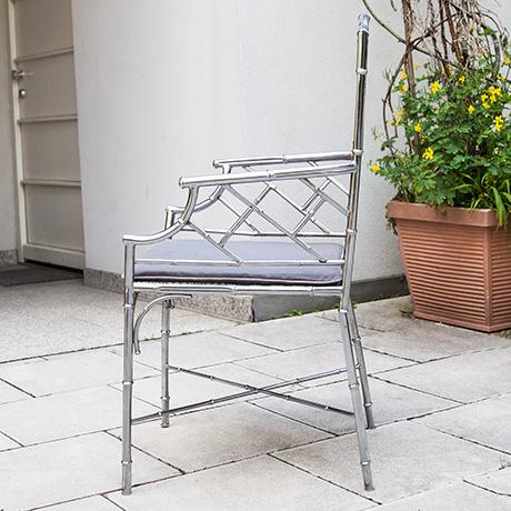 Hollywood-Regency-armchair-bamboo-chrome