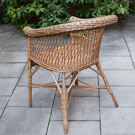 Sessel-bambus-rattan-Stuhl
