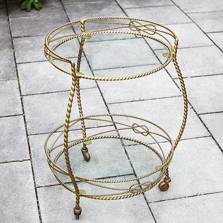 Hollywood-Regency-bar-cart-glass-iron