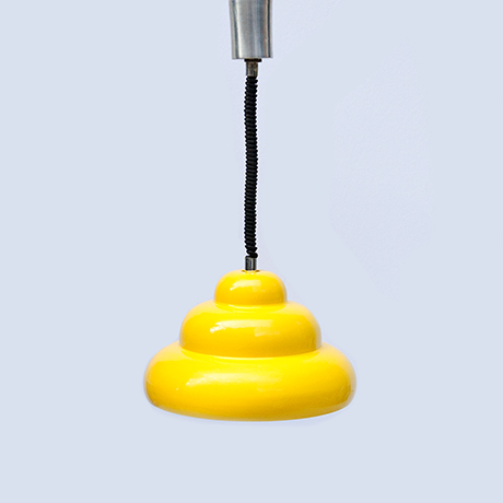 Ingo-Maurer-pendant-lamp-yellow