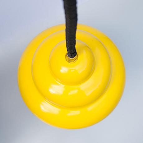 Ingo-Maurer-pendant-lamp-yellow-adjustable