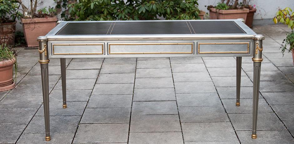John-Vesey-desk-steel-bronze-table-neoclassical