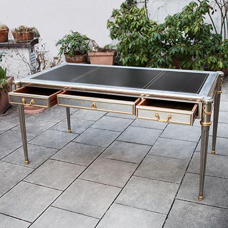John-Vesey-desk-steel-bronze-neoclassical