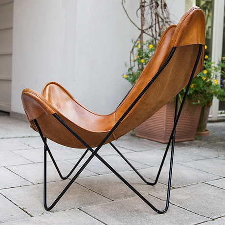 Knoll-International-butterfly-chair-leather-brown