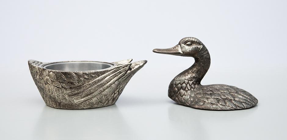 Mauro-Manetti-duck-ice-bucket-silver-vintage