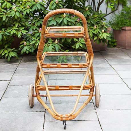 Barwagen-bambus-rattan-servierwagen