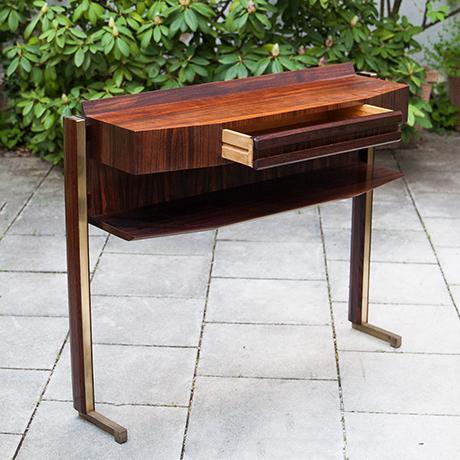 console-wooden-walnut-drawer-vintage