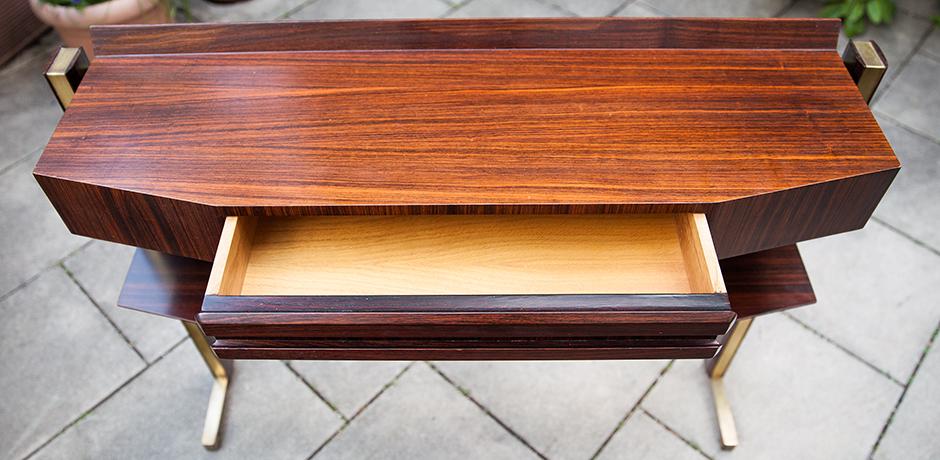 console-wooden-walnut-drawer