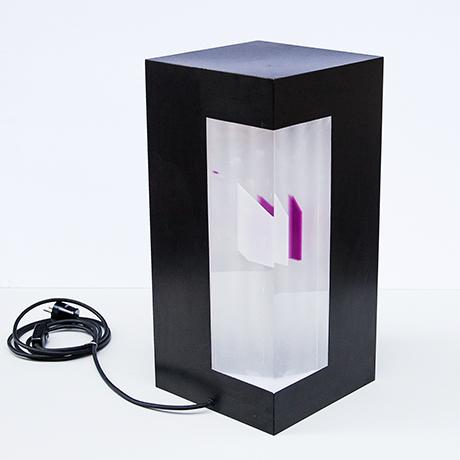 Lampe-leuchtend-Leuchte-schwarz-Acryl