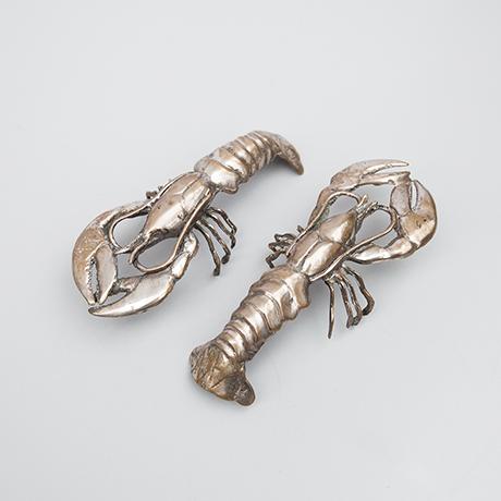 Schlichtes Designlobster-figures-silver-italy