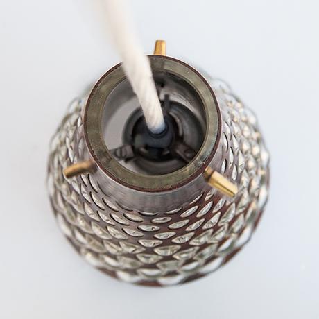 Pendelleuchte-Lampe-Kupfer-glas