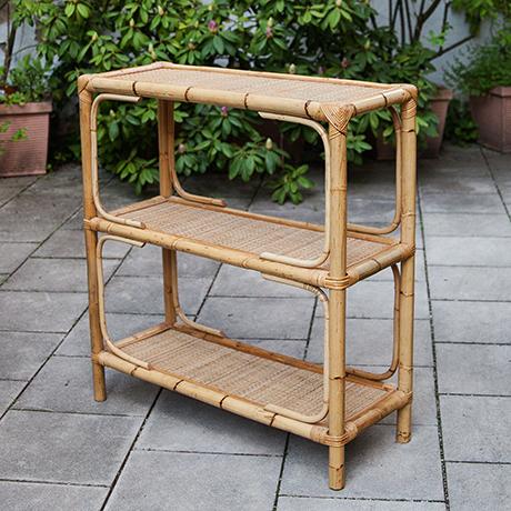Schlichtes Designshelf-bamboo-rattan-bookshelf