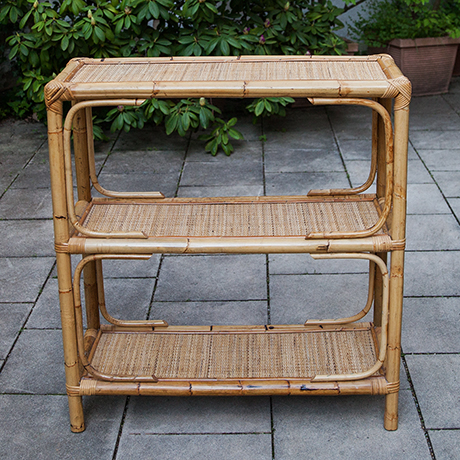 Buecherregal-regal-bambus-rattan-vintage