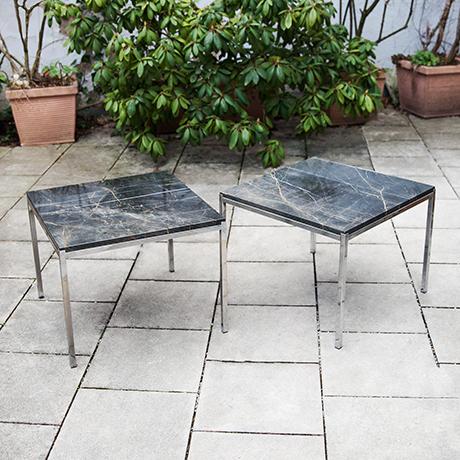 Schlichtes Designside-tables-marble-black