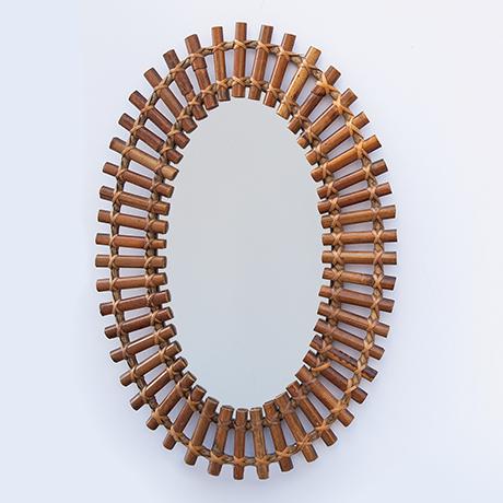 Schlichtes DesignFranco-Albini-wall-mirror-bamboo-italy